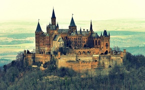 Picture landscape, nature, mountain, Germany, Castle, Hohenzollern, Hohenzollern Castle, castle