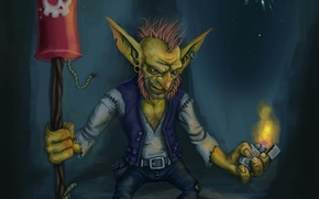 Picture rocket, dwarf, the trick, Goblin, world of warcraft