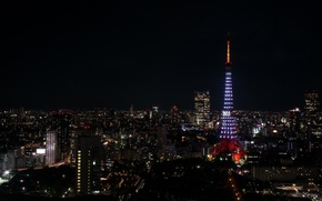Picture city, night, tokyo