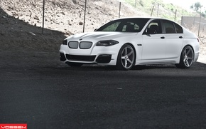 Picture BMW, white, 5 series, f10, vossen