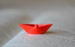 Picture book, boat, origami
