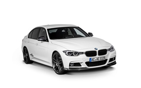 Picture BMW, BMW, white background, sedan, F30, AC Schnitzer, 3-Series