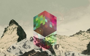 Picture graphics, color, art, cube, background, abstraction, Wallpaper