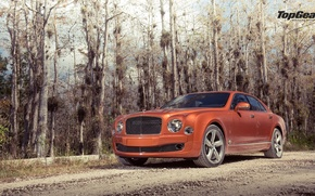 Picture Bentley, Top Gear, Orange, Speed, Road, Ligth, Mulsanne