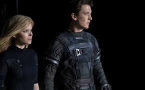 Wallpaper fiction, frame, Kate Mara, Fantastic Four, Sue Storm, Reed Richards, Miles Teller, Miles Teller, Kate ...