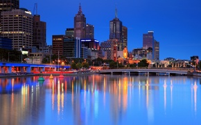 Picture night, lights, city, Australia, Melbourne, large, Melbourne