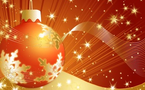 Picture collage, new year, Christmas, ball, holidays, postcard