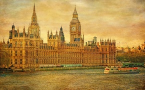 Picture the sky, river, watch, England, London, tower, Thames, Parliament