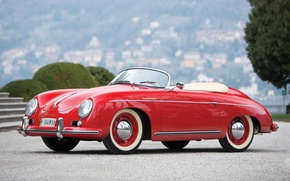 Wallpaper background, Porsche, Porsche, classic, the front, 1955, Speedster, by Reutter, 356, Speedster