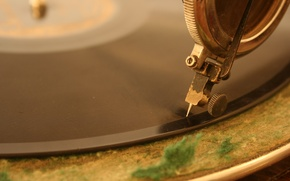 Picture Antique Phonograph, vinyl, music