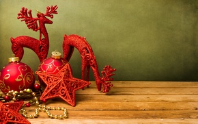 Picture stars, toys, deer, New year, new year, stars, toys, Merry Christmas, Merry Christmas, deer, red …