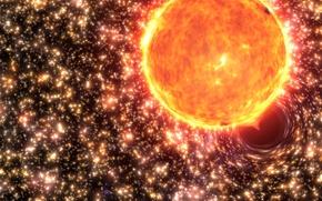 Picture star, black hole, black hole, black hole, absorption, globular cluster