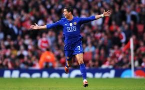 Picture Cristiano Ronaldo, stadium, Manchester United, Old Trafford, AIG