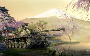 Picture game, weapons, tank, game, weapon, world of tanks, world of tanks, tank, STA-2