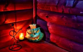 Wallpaper pumpkin, candle, cigarette, hut, halloween