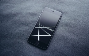 Picture style, black, smartphone, Apple, iphone 6