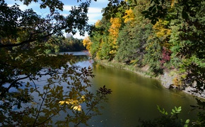 Picture Nature, Autumn, USA, USA, Fall, Autumn, River, Cornell Plantations