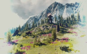 Wallpaper landscape, stones, mountain, The Witcher 3