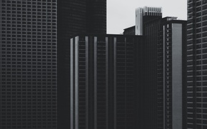 Picture windows, USA, United States, Chicago, Illinois, skyline, lines, black and white, skyscrapers, America, b/w, United …