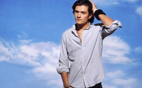 Picture male, shirt, Orlando Bloom