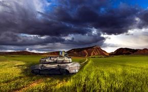 Picture Landscape, Tank, Ukraine, Stronghold