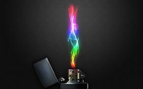 Wallpaper fire, color, lighter, Color Flame