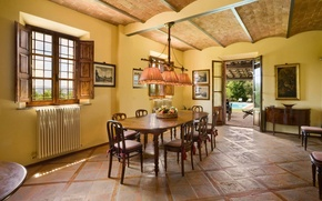 Picture design, style, yellow, interior, dining room