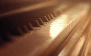 Picture keys, white, piano