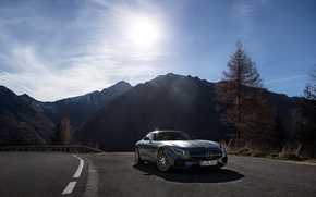 Picture AMG, Mercedes-benz, the mountains, GT-S