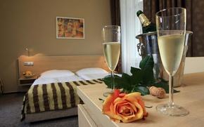 Wallpaper mood, wine, glasses