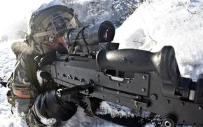 Picture weapons, soldiers, M240B, machine gun