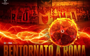 Picture stadium, sport, football, wallpaper, UEFA Champions League, The Olympic Stadium, AS Roma, fans