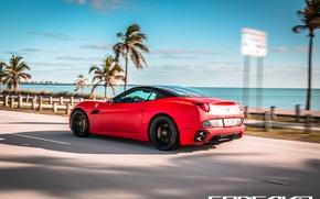 Picture machine, auto, home, Ferrari, auto, California, Wheels, Concave, Matte Red
