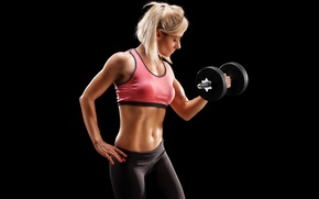 Picture muscle, fitness, gym, dumbbell