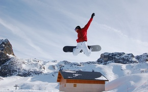 Picture sport, winter, extreme, Snowboard