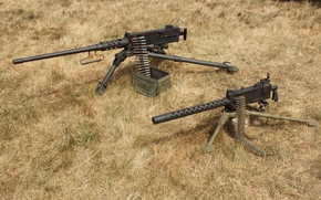 """Picture grass, weapons, guns, Browning M2, """"Browning"""", M1919"""