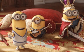 Picture cinema, sword, guitar, yellow, eyes, smile, crown, england, Kevin, cartoon, movie, toys, horse, film, Cyclops, …