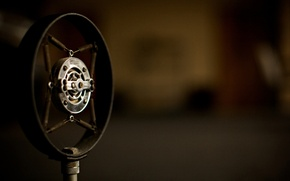 Picture retro, music, old, microphone, stand, microphones
