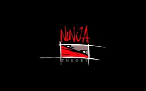 Picture white, red, the inscription, black, different, Ninja theory