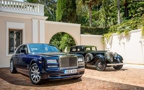 Picture auto, blue, retro, black, Phantom, Rolls Royce, 2012