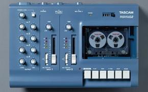Wallpaper technology, cassette tape recorder, Tascam, multi-channel recording, TEAC