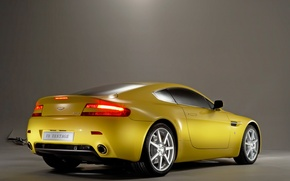 Wallpaper Aston Martin, yellow, Vantage