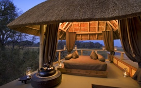 Picture design, style, interior, glamping, glamping, bungalow, exotic place