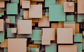 Picture squares, geometry, design, color, material