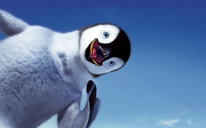 Picture the sky, smile, penguin, Happy feet