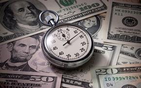Picture money, dollars, watch