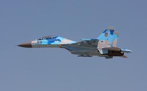 Wallpaper Su-27UB, fighter, Flanker, multipurpose