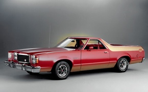 Picture red, Ford, Ford, pickup, 1979, Ranchero, Ranchero