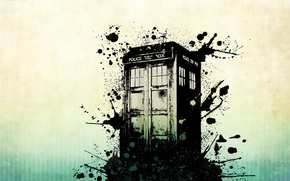 Picture squirt, background, abstract, blots, Doctor Who, Doctor Who, The TARDIS, TARDIS, Police Box, Police Box