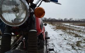Picture winter, snow, nature, stroller, cradle, IZH Jupiter 4